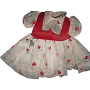 "Beautiful 18"" Tagged Nylon Embossed Ideal Shirley Temple Doll Dress Free P&I US Buyers"