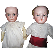 2 German Bisque Dolls for parts or restoration Free P&I US Buyers