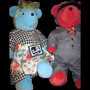 1993 Alice & Ralph Honeyspooners VIP Bears Free P&I US Buyers
