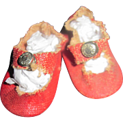 Vintage Red Center Snap skates for Ginny or Muffie Doll Free P&I US Buyers