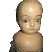 """17"""" Wax Glass eyes Doll for parts Fee P&I US Buyers"""