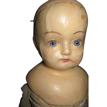 "17"" Wax Glass eyes Doll for parts Fee P&I US Buyers"