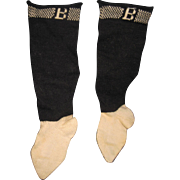 Wonderful Pr Bursa Socks for china or bisque dolls Free P&I US buyers