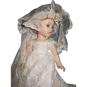 1930's Compo Madame Alexander Wendy Bride Doll Free P&I US Buyers