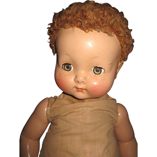 "21"" Effanbee Flirty Eye Compo Sweetie Pie Doll for restoration Free P&I US Buyers"