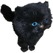 "Adorable 17"" Vintage black Cat Free P&I US Buyers"