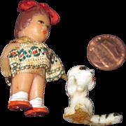 "Tiny 2""  Doll house Doll & friend Free P&I US Buyers"