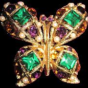 Beutiful Eisenberg Ice Butterfly Brooch Free P&I US Buyers
