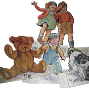 5 Dick & Jane Cutouts Scott Foresman Free P&I US Buyers
