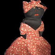 "11"" Vintage Balck & White Topsy Turvy Doll Free P&I US Buyers"