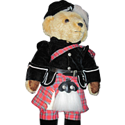 "18"" Merry Thought Harrods England Scott Bear Free P&I US Buyers"