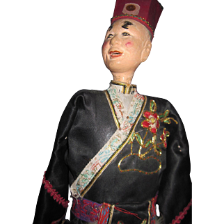 """Old 17"""" Chinese Opera Doll Puppet Free P&I US Buyer"""