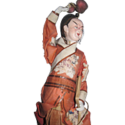 "9"" Ornate Chinese Opera Doll  Free P&I US Buyers!"