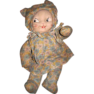 Meow Vintage Kitty Cat doll Free P&I US Buyers