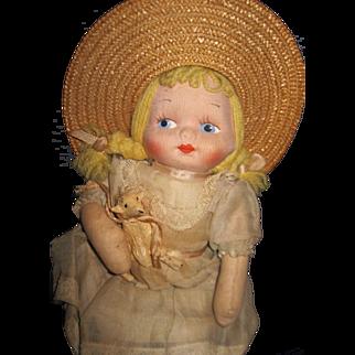 Tagged Musical Cloh doll w/Metal lamb Free P&I US Buyers