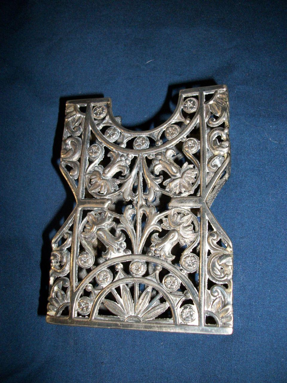 Vintage Art  Nouveau Aurora Silver Plate Card Holder Free P&I US BUYERS