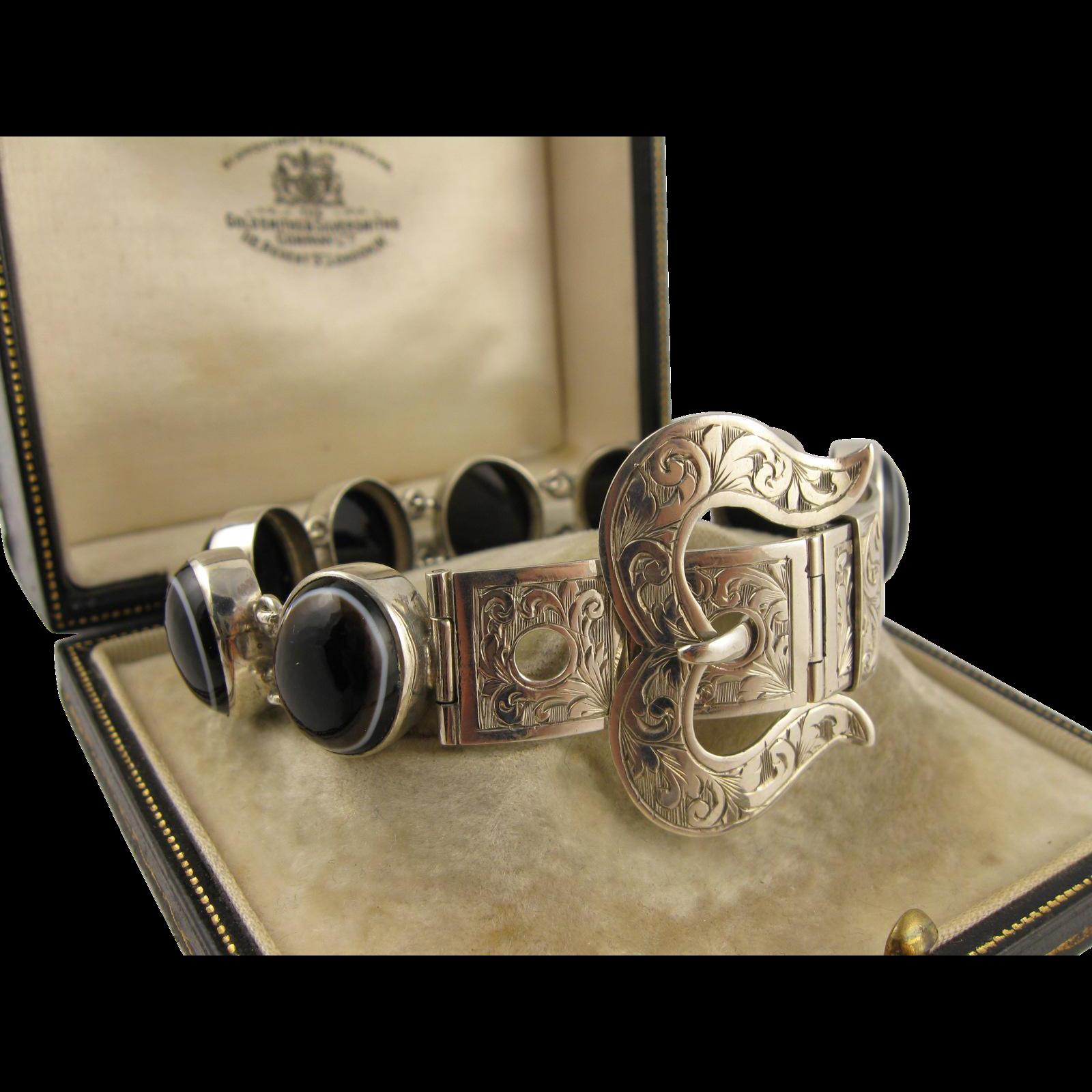 Rare Antique Victorian Scottish Bullseye Banded Agate