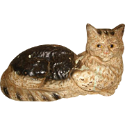 "Vintage Wilton LARGE Cast Iron CAT Doorstop 13"" Long"