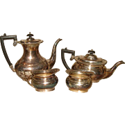 Cheltenham Sheffield English Silverplate 4 Piece Tea SET