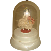 Vintage Kelley DANCING CHINA DOLL under dome Thorens Music Box - Red Tag Sale Item