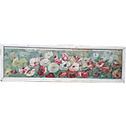 Original Victorian Mixed Flowers YARD LONG Print signed L Clarkson copyright 1892 by JF Ingalls