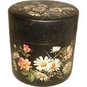 Antique Aesthetic Hand Painted Papier Mache BOX with DAISIES