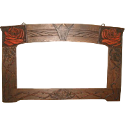 c1900 Arts & Crafts Mission PICTURE FRAME Roses Motif
