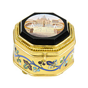 Antique Italian Grand Tour Micro Mosaic Jewelry Box - Roman Micromosaic - Museum Quality