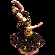 """Large 10"""" Dresden Lace Frankenthal Dancer Figurine Figure"""