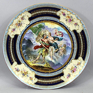Large Hand Painted Royal Vienna Austria Charger Plate