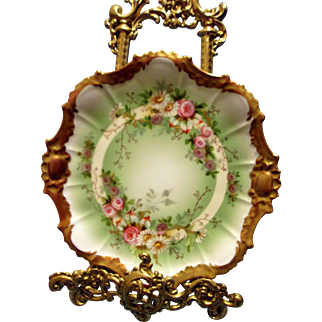 Limoges Hand Painted Plate, Ca Early 1900's