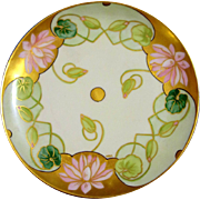 Haviland  D'Arcy's Studio Hand Painted Art Nouveau Water Lilly Plate, Artist Signed