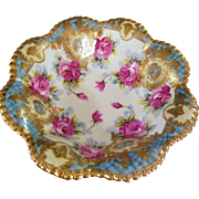 Spectacular Nippon Hand Painted Rose Bowl, Ca1891