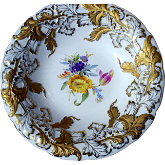 "Late 19th Century 10"" Meissen  Plate Charger"