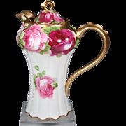 Royal Austria Hand Painted Rose Chocolate Pot