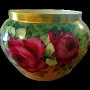 Limoges Rose Jardiniere Planter Bowl