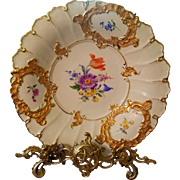 "12""d Meissen Hand Painted Charger Wall Plaque Plate"