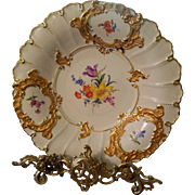 "12"" Meissen Hand Painted Charger Wall Plaque Plate"