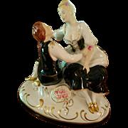Large Royal Dux Bohemia Czechoslovakia Figurine , Ca 1920's