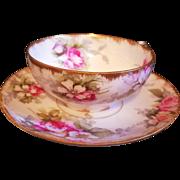 Limoges  Rose  Gold Cup Saucer Set