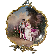 """15.5"""" Magnificent Limoges Figural Plaque Charger, Listed Limoges Artist Signed, E .Furlaud"""""""
