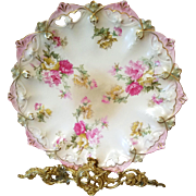 Antique Austria Prussia Rose Cake Plate Charger