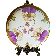 Limoges Haviland France Hand Painted Plate in Art Nouveau Style,Artist Signed