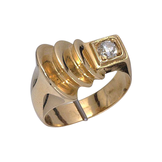 Art Deco 18kt Gold Diamond Ring