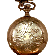 Antique Waltham Pocket Watch Initial Engraved KB