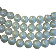 Pearl Rope Necklace 72 Inches Long with 200 White 8 Millimeters Near Round Cultured Freshwater Pearls