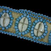 Deer Skin Cowrie Shell Bracelet or Choker