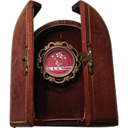 Leather reliquary box containing First Class Relic of St. Neumann