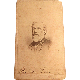 General Robert E.Lee. Signed carte de visite