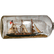 "Classic American ""Ship in a Bottle"""